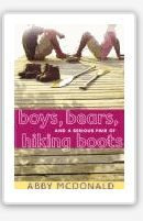 Boys, bears, and a serious pair of hiking boots by McDonald, Abby.  Seventeen-year-old Jenna, an ardent vegetarian and environmentalist, is thrilled to be spending the summer communing with nature in rural Canada until she discovers that not all of the rugged residents there share her beliefs.  Subjects: Environmental issues, Mystery, Teenage Fiction