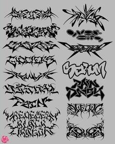 Graffiti Writing, Graffiti Lettering, Graffiti Art, Tattoo P, Grunge Tattoo, Design Art, Graphic Design, Cute Tattoos, Aesthetic Art