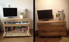 Zelf gemaakte kist/ tv meubel!