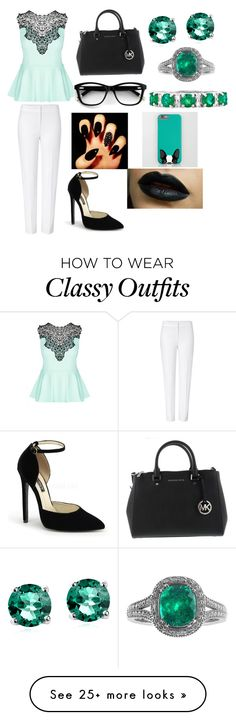"""""""Untitled #84"""" by jessnahal on Polyvore featuring City Chic, ESCADA, Glitzy Rocks and Effy Jewelry"""