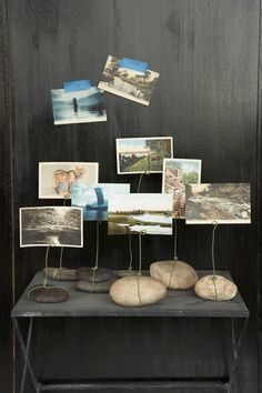 Weekend Project: River Rock Postcard/Photo Stands