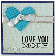 Jennifer McGuire - Add sparkle to ribbon by lining edges with glitter glue - Paper Crafts January/February 2013