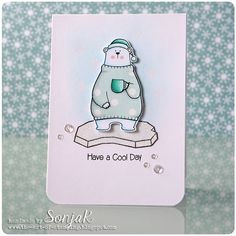 Cool Day: MFT, critter sketch, winter, SonjaK - The Art of Stamping