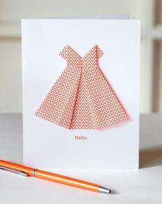 Make an origami dress card