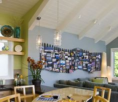 ways to display photos on wall | Five Great Places to Display Your Family Photo Montage