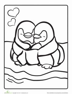 Printable coloring pages animal penguins for kids | Penguins ...