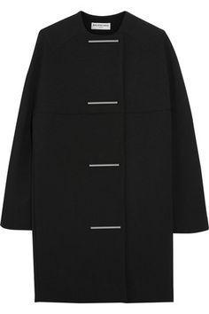 Crepe+cocoon+coat