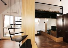 Icipici lakás háló-galériával – Így kell kihasználni a nagy belmagasság előnyeit!