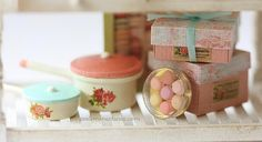 Dollhouse Miniatures, Miniature Food Jewelry, Craft Classes: Clay Miniatures Workshop - Let's Bake Macarons!