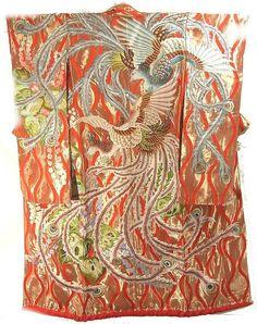 Uchikake (long sleeves) Phoenix