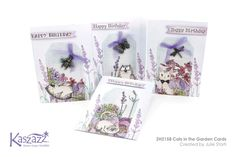 This project will show you how to create four super cute cat cards embellished with some insects for a bit of added cuteness. Super Cute Cats, Cat Cards, Finding Yourself, Workshop, Card Making, Create, Projects, Scrapbooking Ideas, Garden