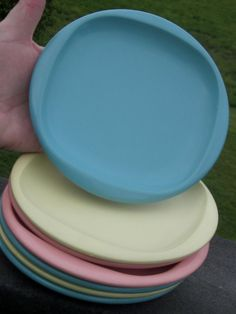 Boontonware Melmac 6 1/4 inch Square Top Plates by LeftoverStuff, $15.00