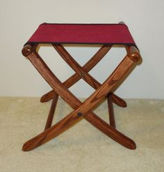Folding Camp Stool - can I do this where the user sits at 45 degrees off of center?  kind of like a corner chair?
