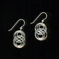 Emboîtement Circle boucles d'oreilles en argent par WvWorksJewelry