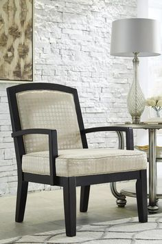 The Mauricio Chair by Ashley Furniture flaunts a casual wood frame and chic linen colored upholstery. This chair is stylish and fresh, making it easy to mix into any contemporary decor. 3 Piece Living Room Set, Living Room Sets, Living Room Decor On A Budget, Living Room Furniture, At Home Furniture Store, Accent Furniture, Chair Design, Home Furnishings, Love Seat