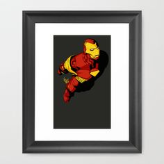 Starks In-Flight 2 Framed Art Print by Vee Ladwa - $42.00