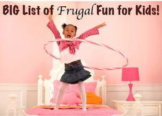 "BIG List of Frugal Fun Ideas for Kids! ~ from TheFrugalGirls.com {keep the ""I'm Bored' out of the lazy days of summer... without breaking the bank!}"