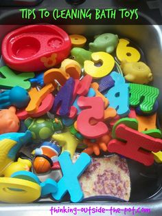 Tips to Cleaning Bath Toys