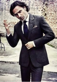 """dailytwdcast: """" """"Andrew Lincoln photographed by Ruven Afanador for The Rake Magazine"""" """""""