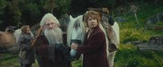 Hobbit Screencap- Bilbo and pony