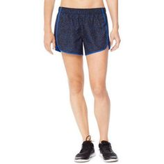 Hanes Sport Women's Performance Woven Running Shorts with Built in Liner, Size: Medium, Blue