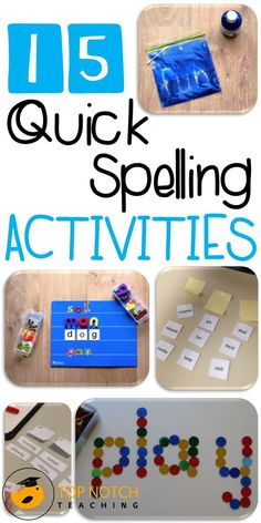 15 quick and simple 'go to' spelling activities that will engage your students and help them revise and practice their spelling words.