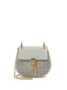 Chloé - Drew Perforated Mini Shoulder Bag