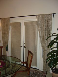Grass Cloth Shades On French Doors