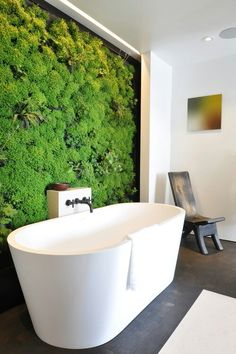 Living wall bathroom