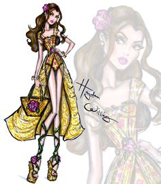 Hayden Williams Fashion Illustrations | Disney Divas 'Beach Beauties' by Hayden Williams:...