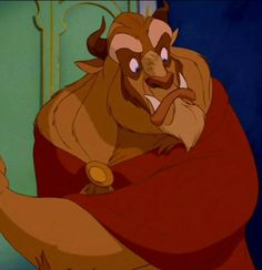 I love this expression on Beast - this is the scene where Belle won't come out for dinner. Beauty and the Beast.