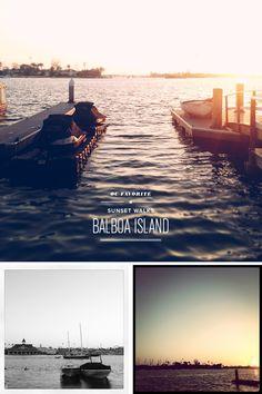 orange county favorite | balboa island sunset walks