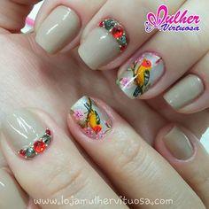Pássaro lindo feito a mão  Acesse nosso site www.lojamulhervirtuosa.com #mulhervirtuosaadesivos #mulhervirtuosa #amulherv #feitoamão #pinceismulhervirtuosa #pincéis  #DomDeDEUS #artnasunhas #nailart #manicures #divas #artes #desenhos #artesanais #artesanato #linhapreciosa #joias #unhascomjoias #pedrapreciosas #amounhas #MaisPreciosaQueFinasJoias
