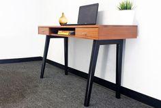 Mid century modern desk writing desk computer desk by PMIstudios