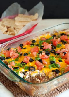 Baked Taco Dip   Giveaway