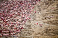 Red Houses  Photo by Xjun Lee - 2016 National Geographic Travel Photographer of the Year