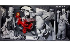 Dystopic Pop Exhibits - Ron English's Art at the Allouche Gallery Shows Warped Pop Culture Icons