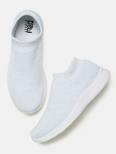 0453896c8bc0b4 Crew STREET Women White Slip-On Sneakers from myntra