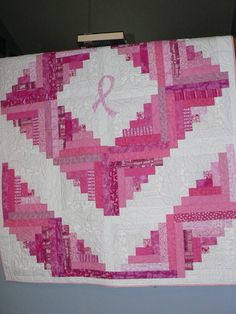 Breast Cancer quilt by designbyvicki on Etsy, $250.00