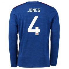 Manchester United 16-17 Phil #Jones 4 Udebanesæt Lange ærmer,245,14KR,shirtshopservice@gmail.com