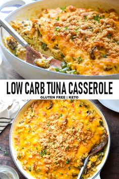 Five Approaches To Economize Transforming Your Kitchen Area New This Rich Creamy Low Carb Tuna Casserole Recipe Is Like An Embellished Tuna Helper On Steroids And Its Loaded With Wholesome Veggies. Low Carb Lunch, Low Carb Dinner Recipes, Keto Recipes, Healthy Recipes, Healthy Food, Vegetarian Recipes, Dessert Recipes, Diet Desserts, Gastronomia
