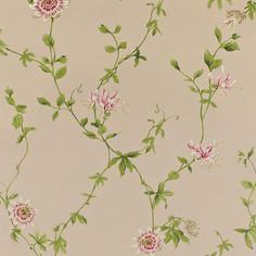 Sanderson Wallpaper Pemberley Passion Flower Collection DPEMPF103 DPEMPF103