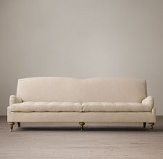 6' 19th C. English Roll Arm Upholstered Sofas $3196 from restoration hardware