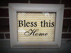 Framed Art  Bless this Home 8 x 10 by BlessedHomeDecor on Etsy