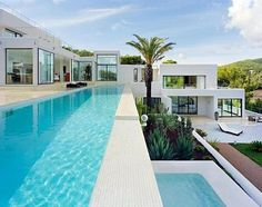 This multi-levelled villa sits in the fragrant foothills of Ibiza