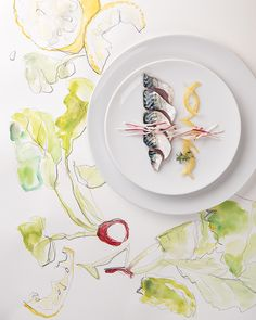 Marie Lukasiewicz photo.  Jessie Kanelos Weiner food styling.  Marinated mackerel.  Food styling and illustration.  http://www.marieluka.com/