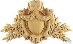 Shield-Louis XVI 7  7/8H X 13W - 1Relief 5577