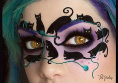 Halloween make-up : chats noirs