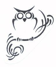 delicate owl tattoo - Google Search