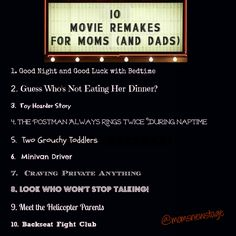 Mom's New Stage: 10 Movie Remakes for Moms (and Dads)